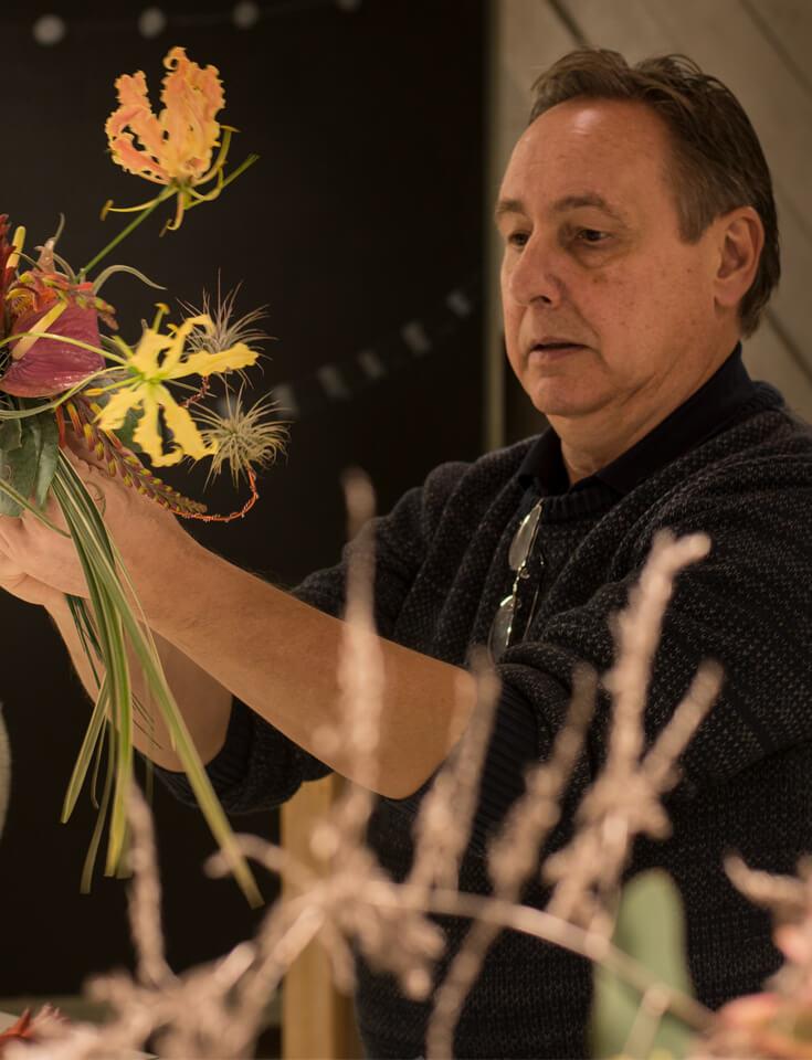 Meesterbinders opleiding Floral Academy Ben